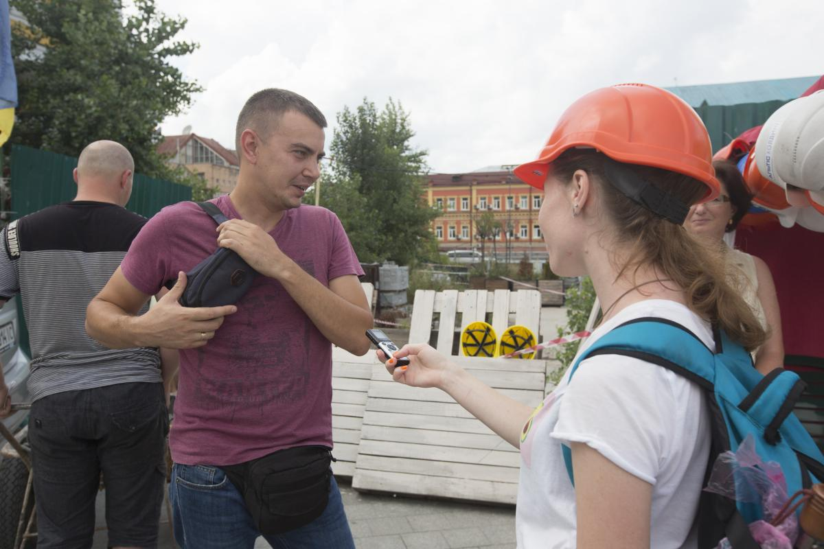 Киевлянин Сергей не верит в победу активистов / Фото УНИАН