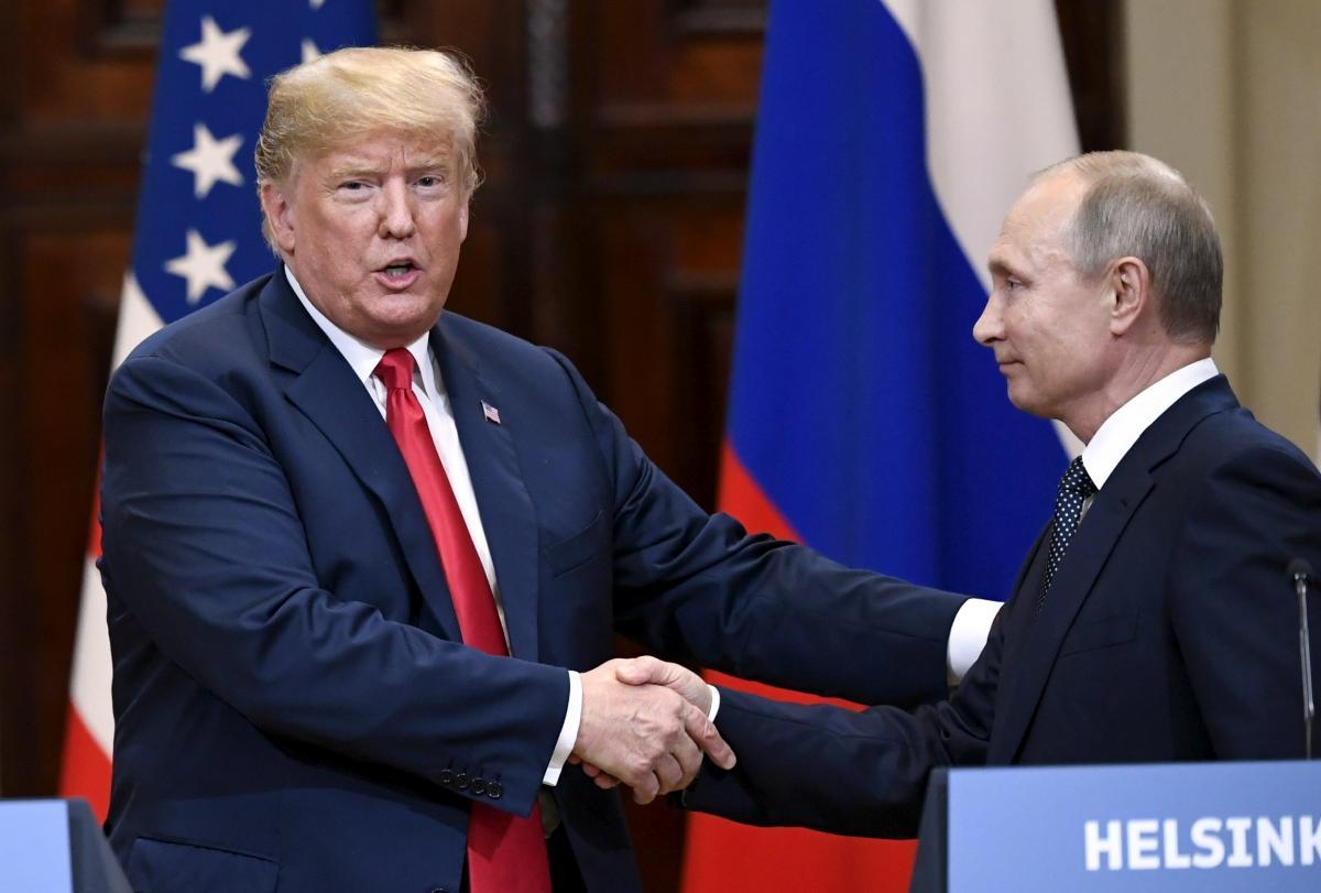Дональд Трамп і Володимир Путін / фото REUTERS
