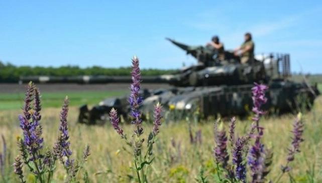 Боевики вели огонь по позииям украинских военных из 120-мм минометов /фото vgolos.com.ua