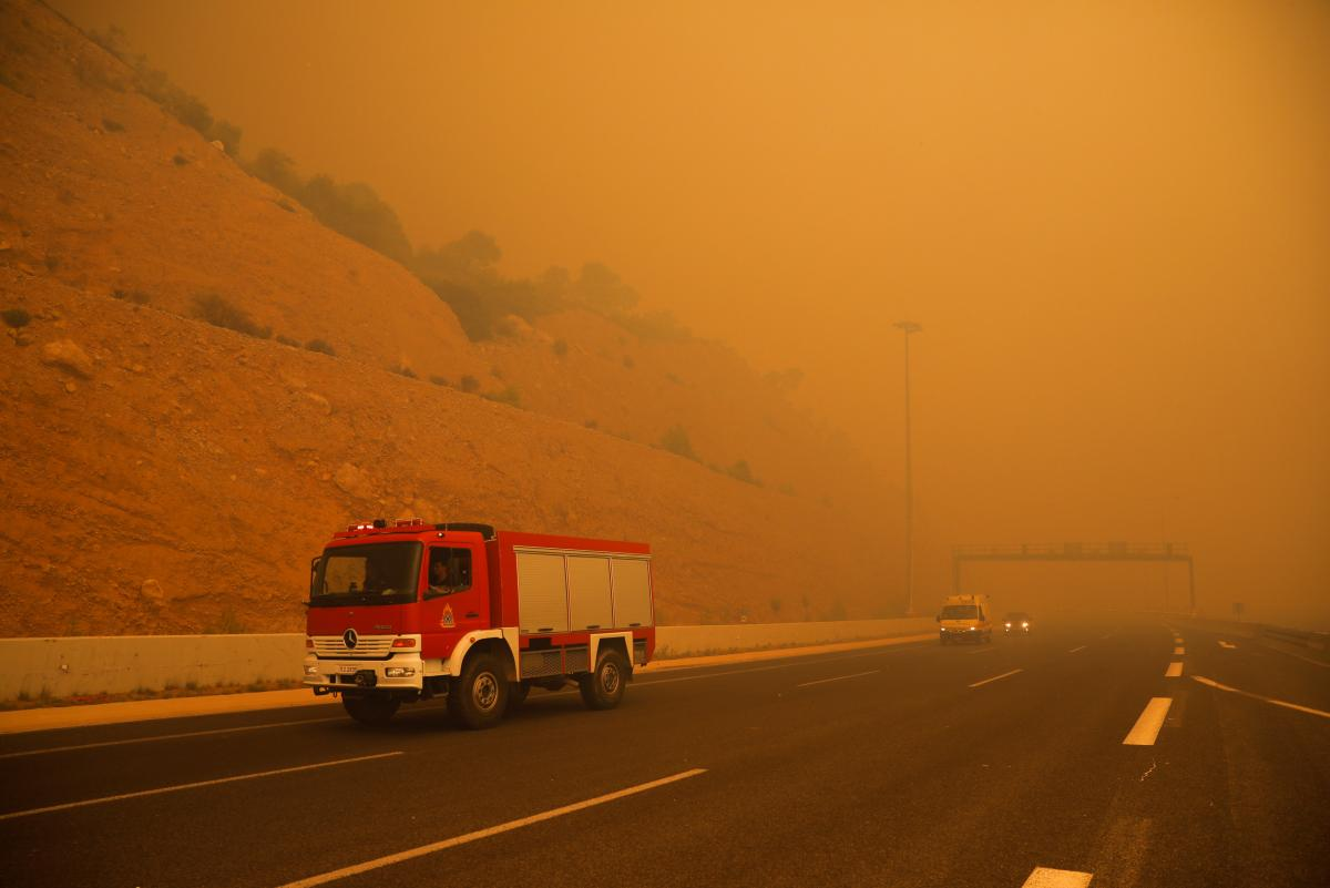 Лесные пожары в Греции / REUTERS