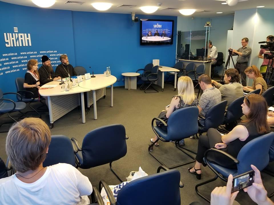 В УНІАН відбулася прес-конференція «1030-ліття Хрещення Русі: молебень на Володимирській гірці і Хресний хід-2018» / Центр інформації УПЦ