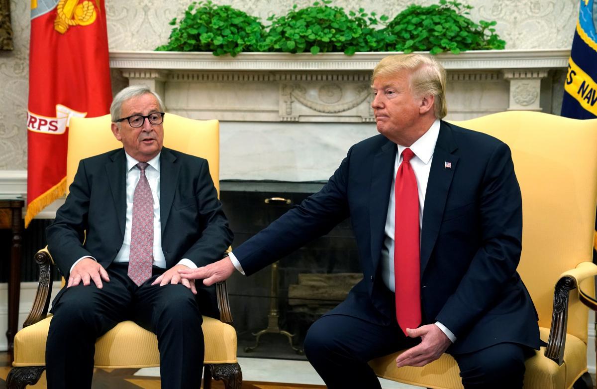 Жан-Клод Юнкер і Дональд Трамп / REUTERS