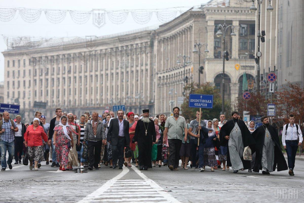 Крестный ход в Киеве / фото УНИАН