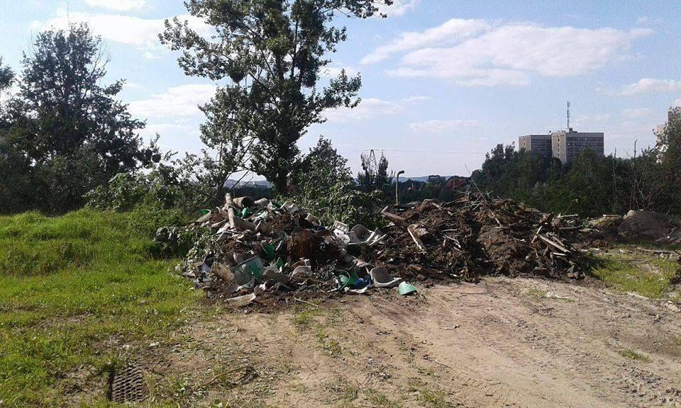 Свалка в Снопківському парка / фото portal.lviv.ua
