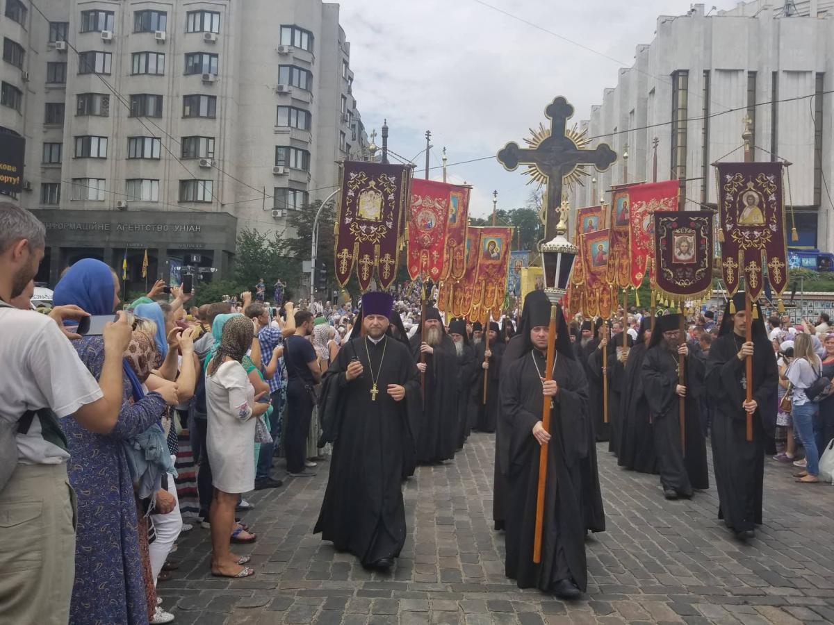 В Киеве начался крестный ход Украинской Православной Церкви / Фото: «УНИАН-Религии»