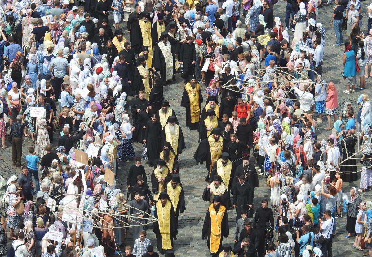 Крестный ход в годовщину 1030-летия Крещения Руси собрал более 200 тысяч верующих / Фото: Центр информации УПЦ