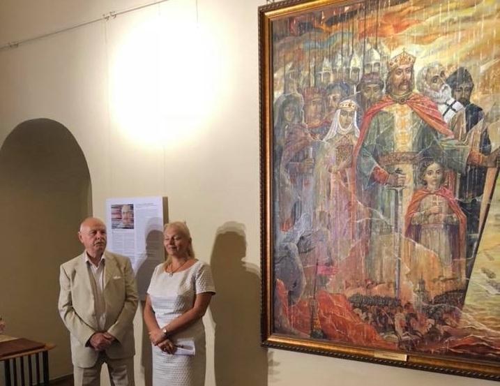 На картине изображен момент, когда князь Владимир возвращается из Корсуня / facebook.com/SophiaKyiv