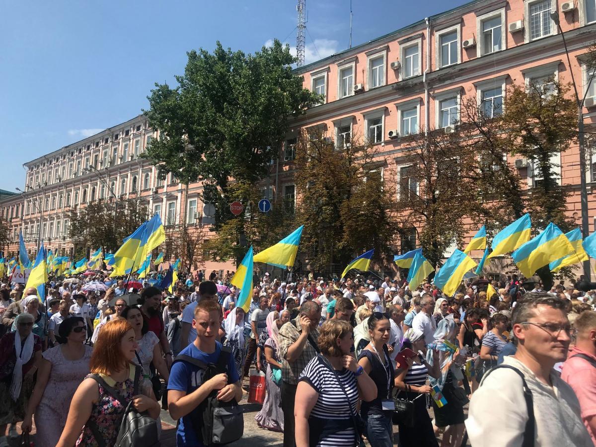 65 тысяч верующих приняли участие в крестном ходе УПЦ КП / фото Андрей Новицкий / пресс-служба МВД