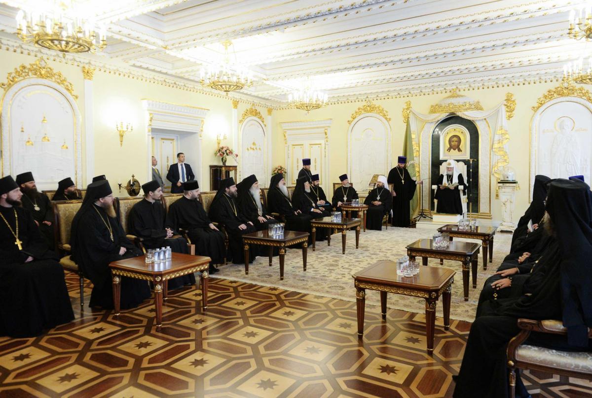 Патріарх Кирил зустрівся з делегаціями Помісних Православних Церков / foto.patriarchia.ru