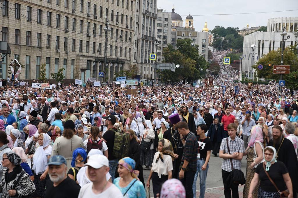 Понад 1200 віруючих Запорізької єпархії УПЦ взяли участь у хресному ході на честь 1030-річчя Хрещення Русі / hramzp.ua