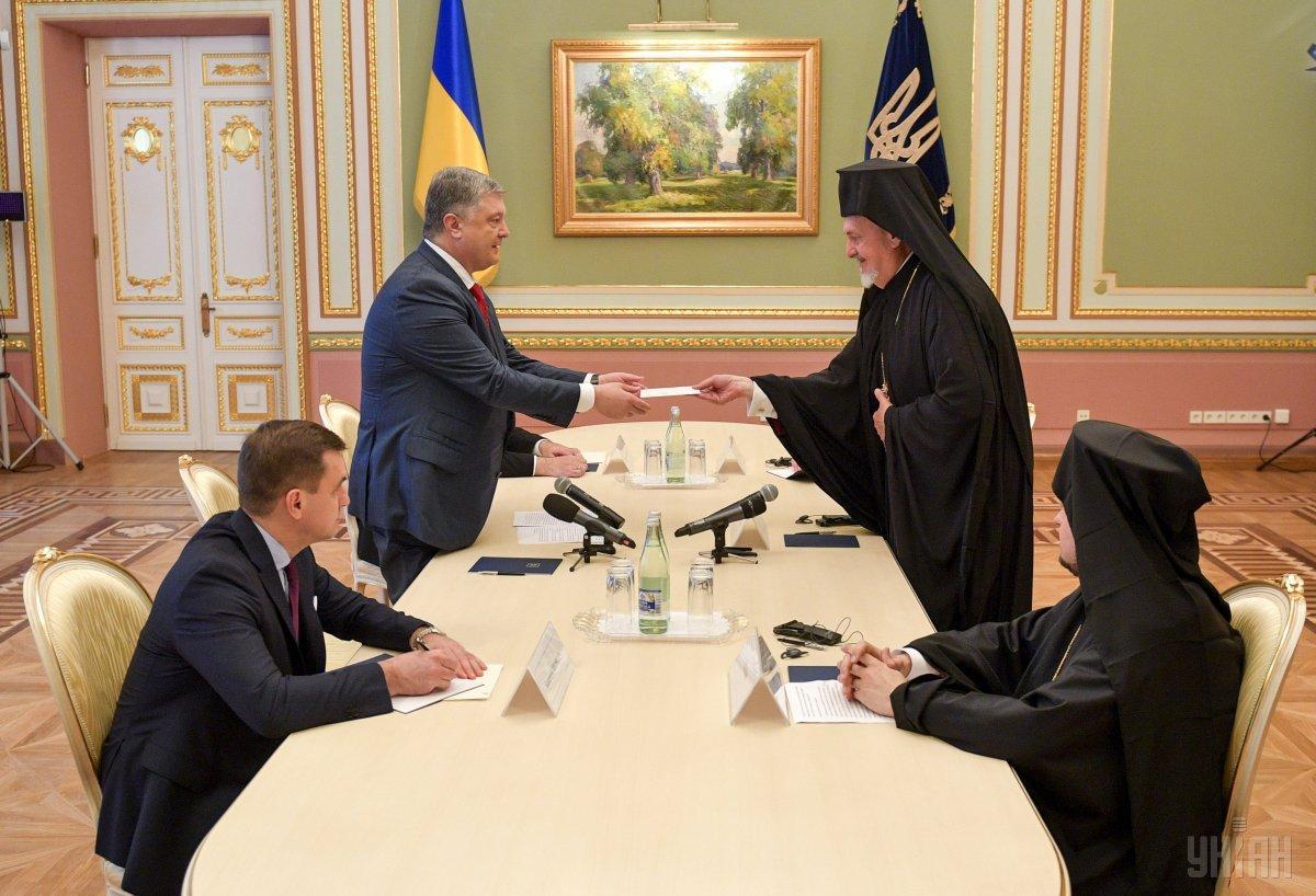 Порошенко встретился с делегацией Вселенского Патриархата / фото УНИАН
