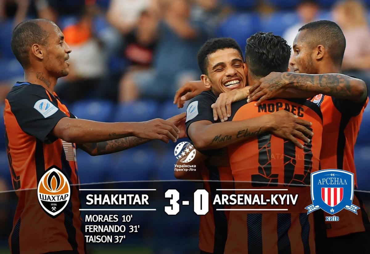 """Шахтар"" - ""Арсенал"" - 3:0 / facebook.com/fcshakhtar"
