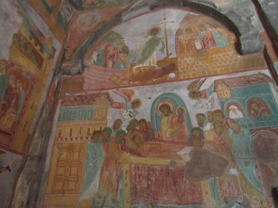 Багато фресокявляють іконографічну цінність / karibche.ambebi.ge