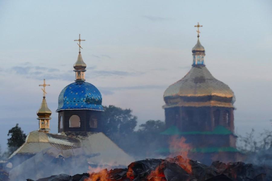 В Новице вместо сгоревшей деревянной построят церковь из кирпича / vikna.if.ua