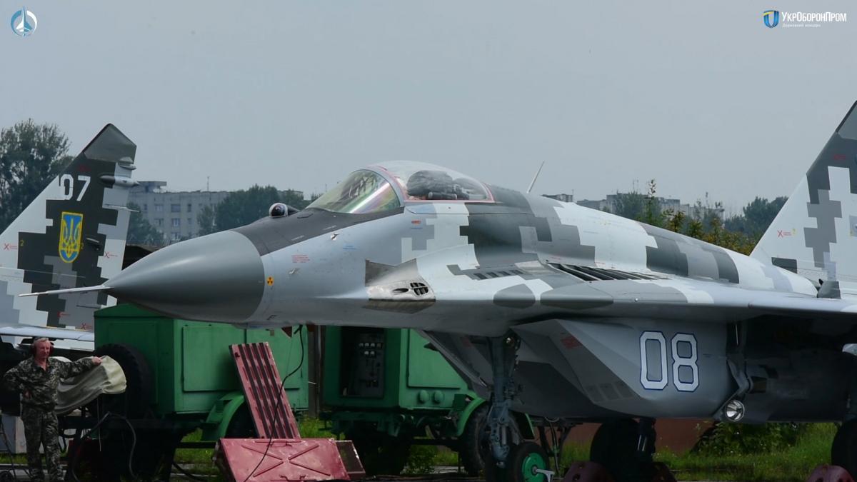 Во Львове модернизировали истребители МиГ-29 / фото ukroboronprom.com.ua