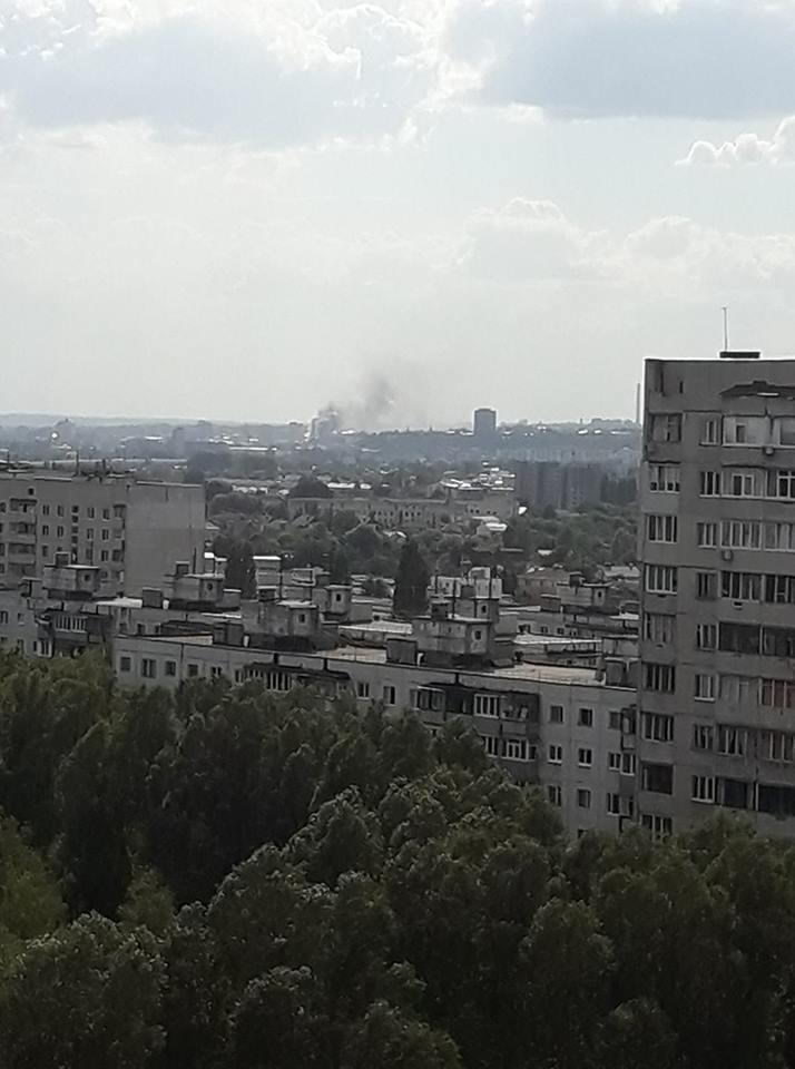 Пожежувидно навіть в районі Салтівки / фото Ірина Красницька