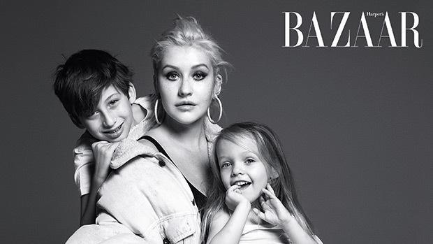 Крістіна Агілера знялася з дітьми для модного глянцю / Instagram