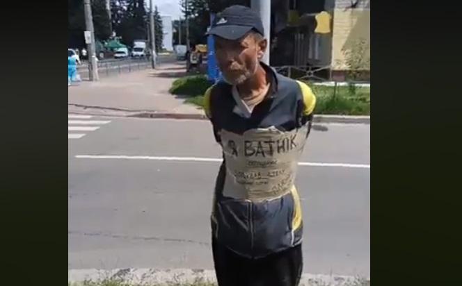 Чоловіка, якого у Чернігові прив'язували до стовпа, покарали за хуліганство по відношенню до пам'ятника Небесної Сотні / фото facebook.com/TarnavskyiOleksandr