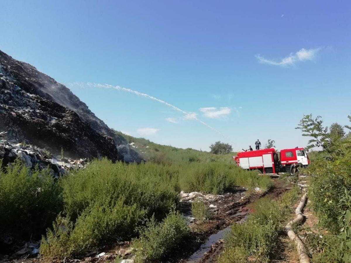 На Полтавщине горит свалка / фото ГСЧС в Полтавской области