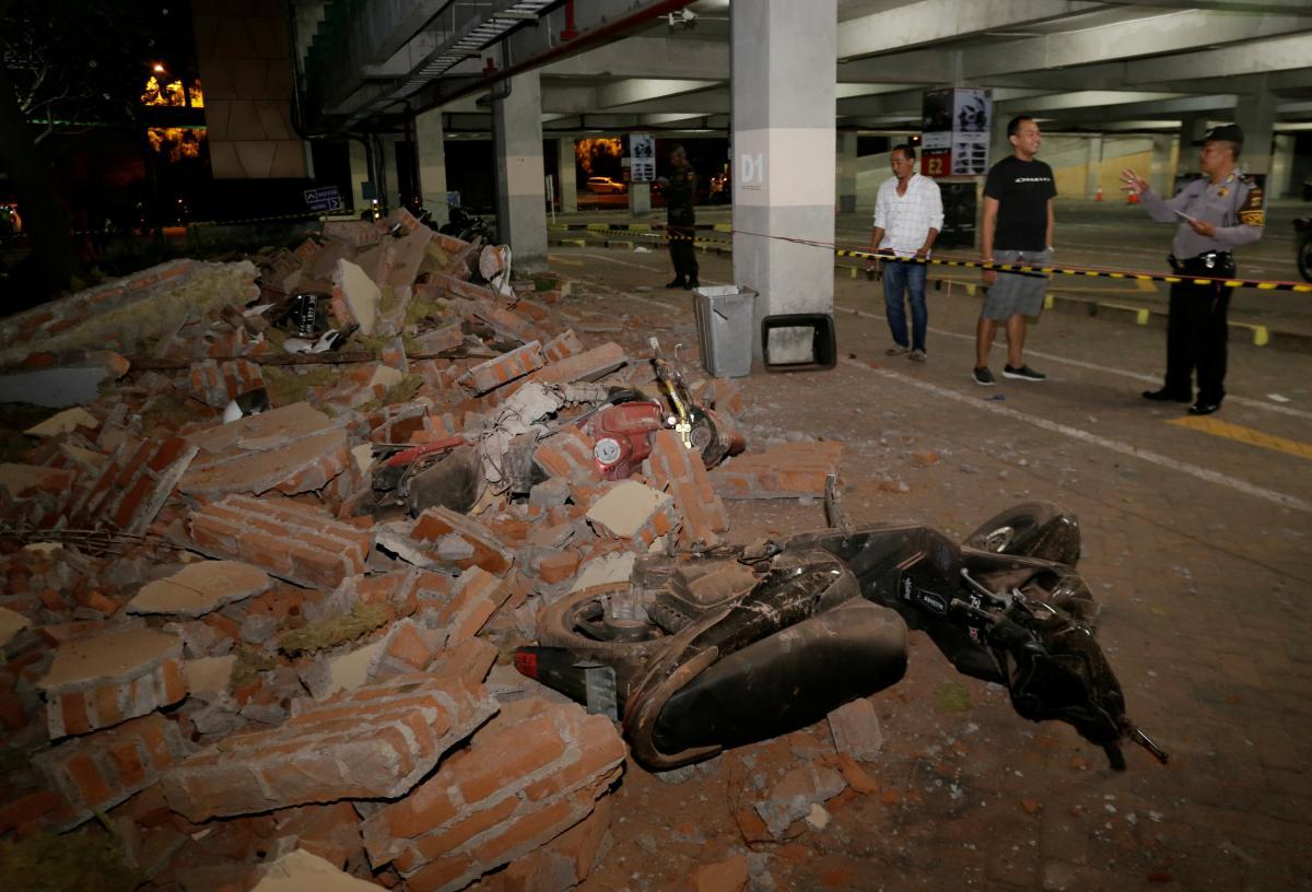 Наслідки землетрусу на острові Ломбок / REUTERS