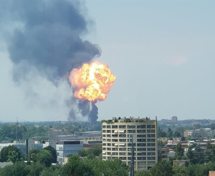 Дим від вибуху було видно майже з будь-якої точки міста \ facebook Yakovina Ivan