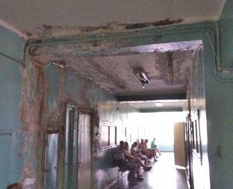 """Приміщення лікарні перебувають в жахливих умовах / фото """"Кримський Телеграф"""""""