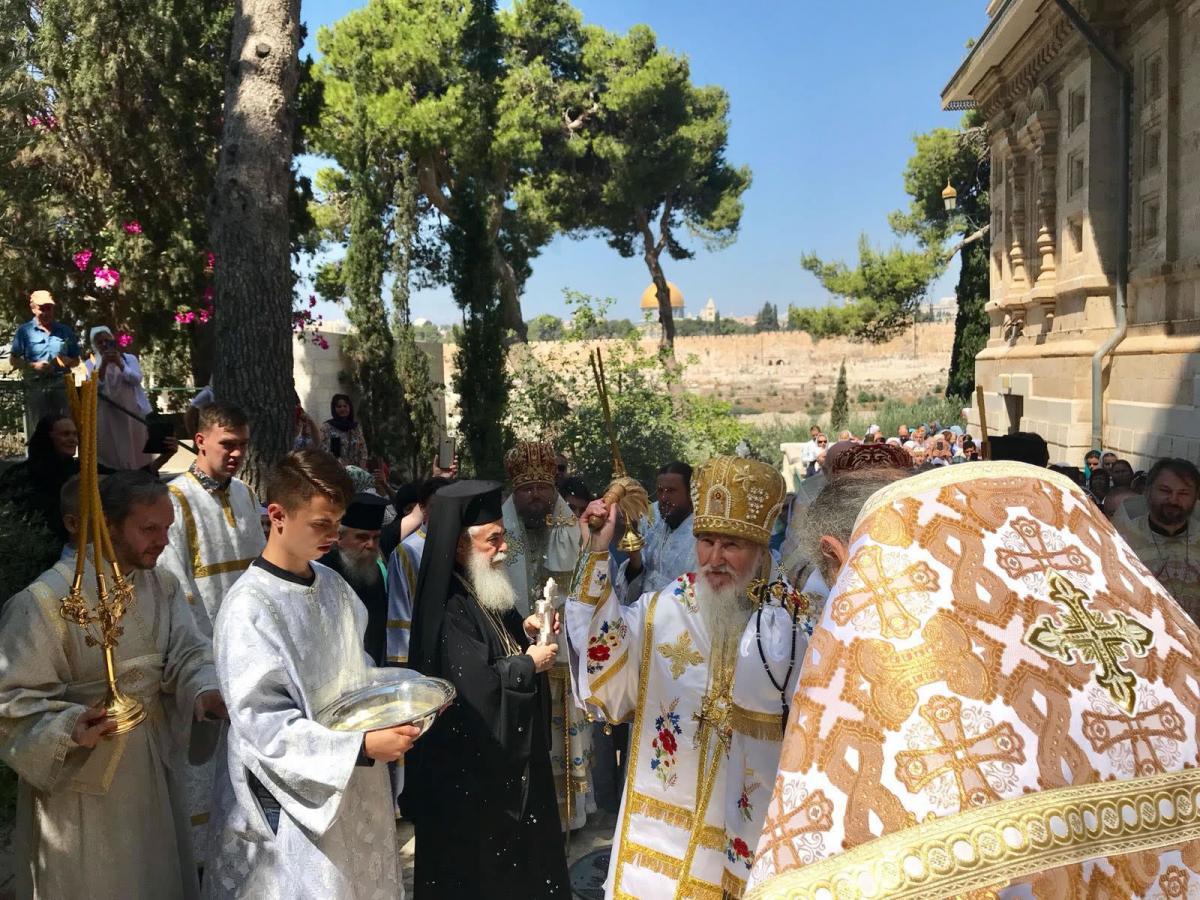 Феофил III побывал на престольном празднике в монастыре Гефсимании / synod.com