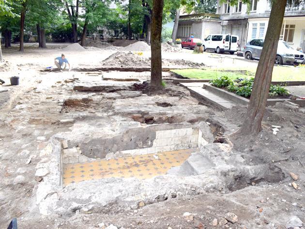 Археологи обнаружили амвон Большой Вильнюсской синагоги / obzor.lt