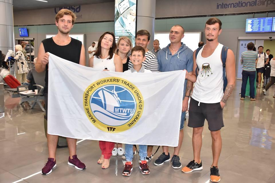 Моряки провели на арестованом судне больше года / фото Профсоюза работников морского транспорта Украины