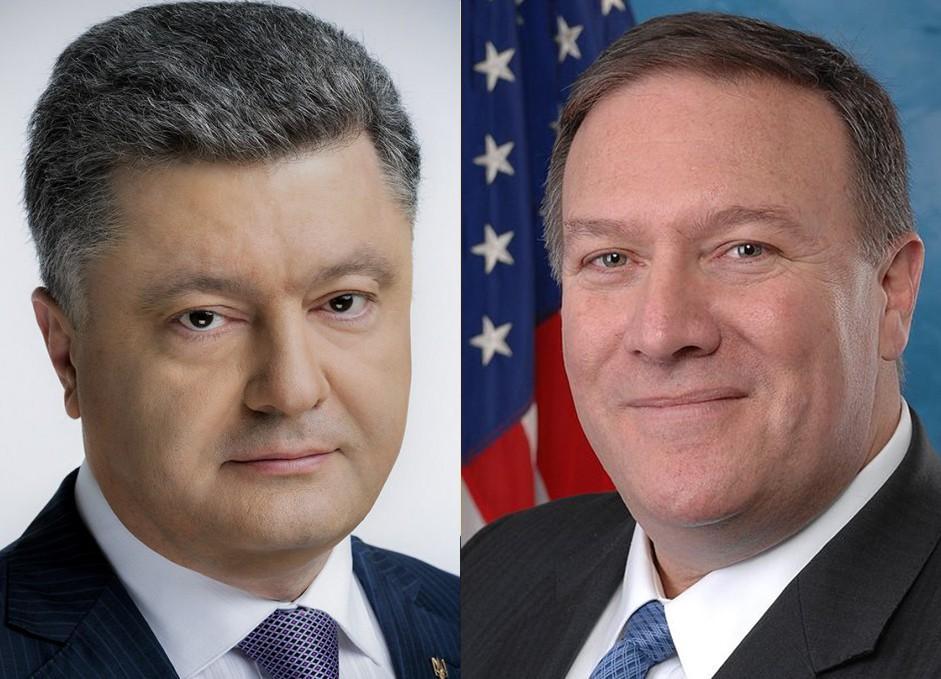 Порошенко обговорив з держсекретарем США Помпео низку питань / president.gov.ua