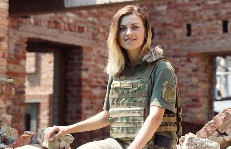 Кравченко у Пісках / Фото facebook / Поліна Кравченко