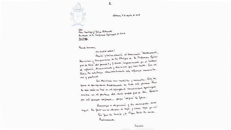Лист Папи Франциска чилійським єпископам / News Vatican