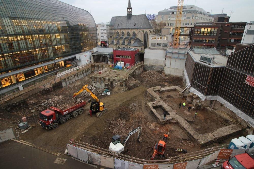 Знахідка була зроблена в центрі Кельна при будівництві церковного центру / Фото: Hi-flyFoto/Roman-Germanic Museum of Cologne