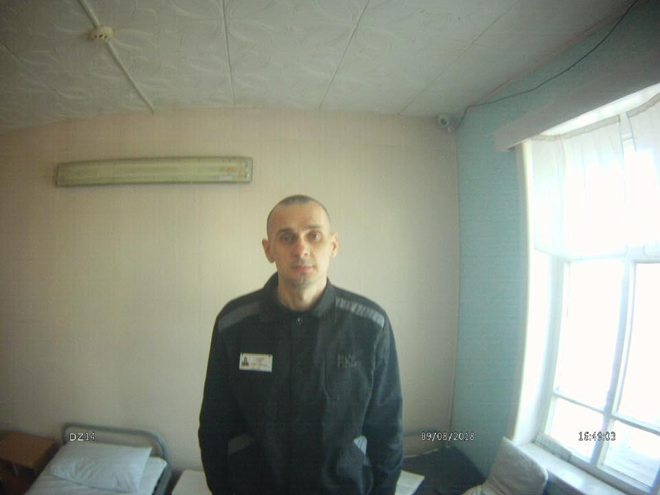 Sentsov in a Russian penal colony / Photo from facebook.com/denisovaombudsman