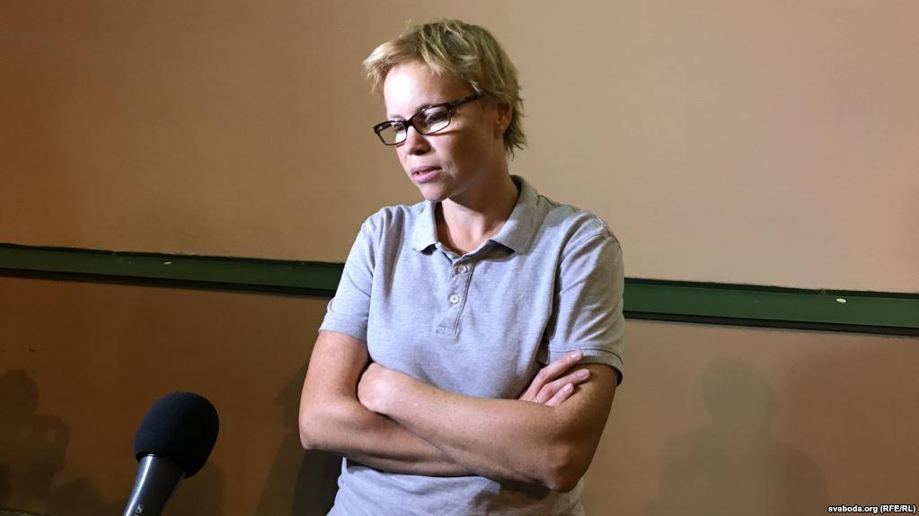 Головний редактор Tut.by Марина Золотова після звільнення 9 серпня 2018 року / svaboda.org