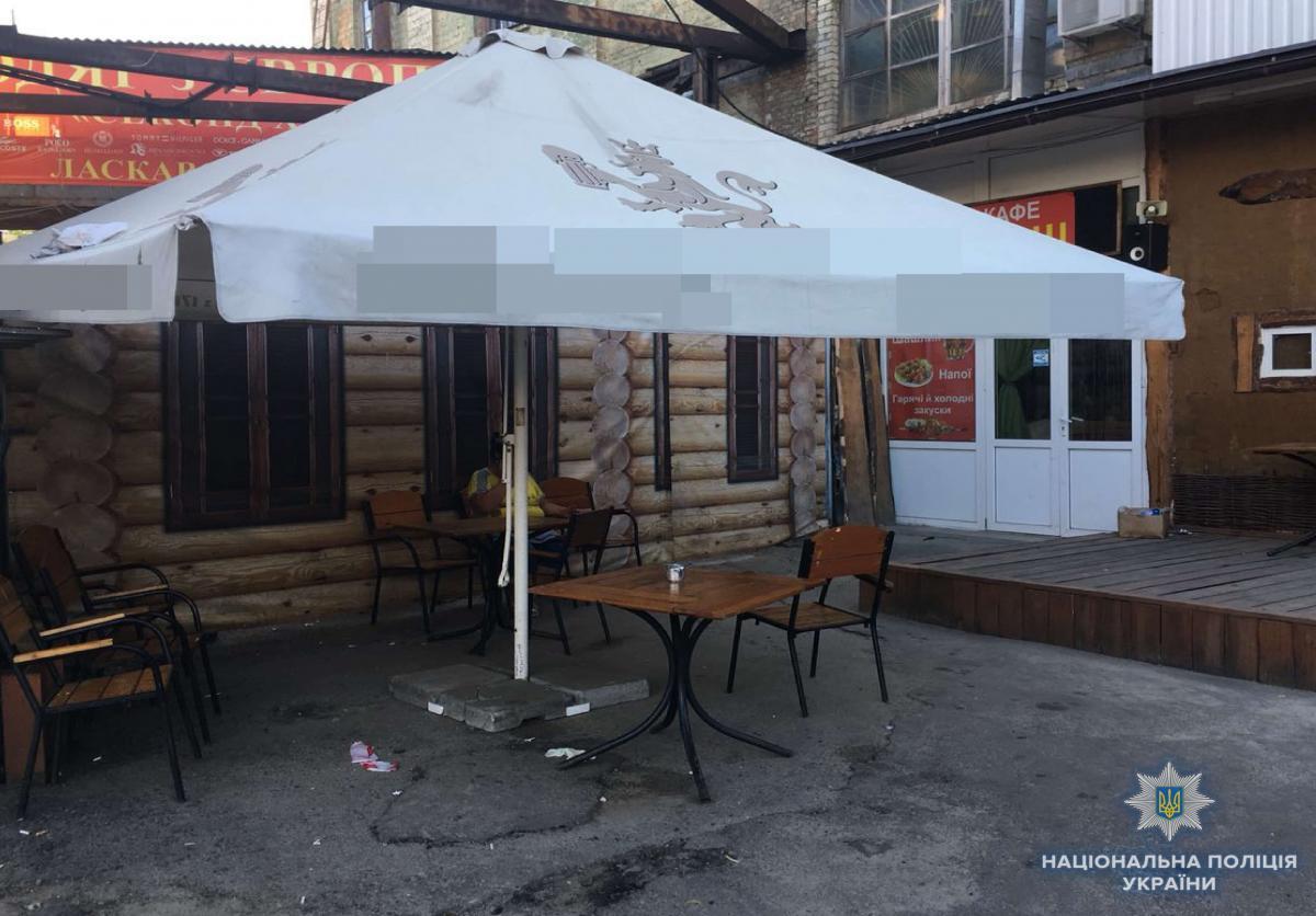 Конфлікт між групою чоловіків стався в кафе біля автовокзалу / фото npu.gov.ua