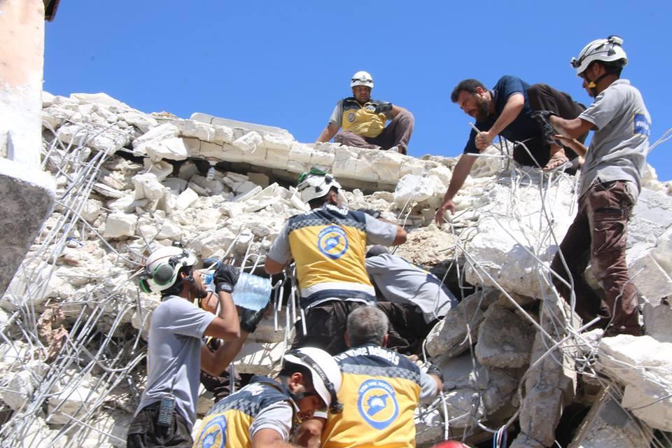 У Сирії вибухнув склад боєприпасів / фото twitter.com/SyriaCivilDef