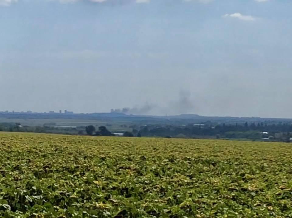 На позициях боевиков вспыхнул пожар / фото facebook.com/yury.mysyagin