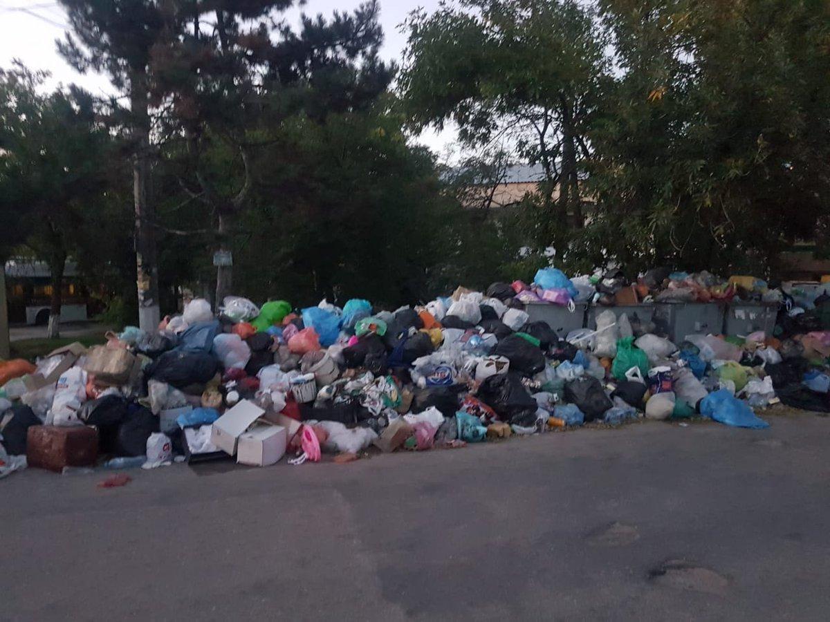 Вулиці Сімферополя завалені сміттям / фото RoksolanaToday&Крим