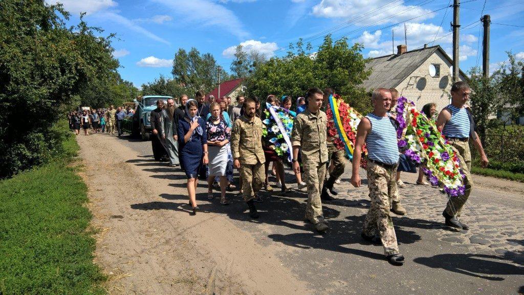 На Волыни провели в последний путь погибшего на Востоке воина Сергея Цепуха/ kam-blag.church.ua