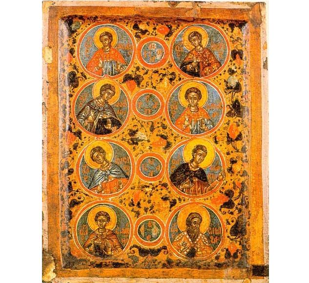 Фото: Ікона «Сім мучеників Маккавеїв», XVII ст. Монастир Пантократор, Афон / athos-ukraine.com