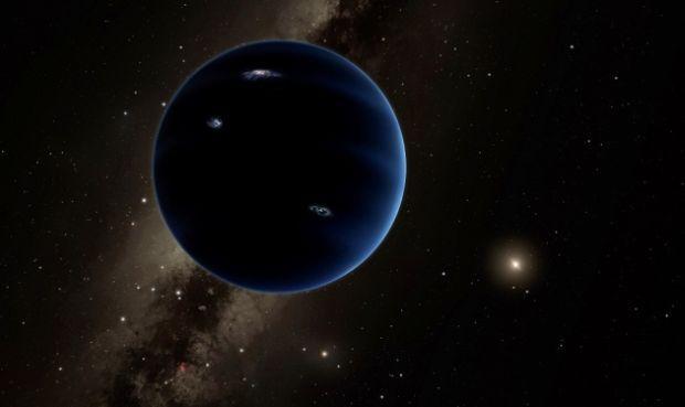 """Художественное изображение гипотетической """"Планеты Х"""" Нибиру / фото Caltech/R. Hurt (IPAC)"""