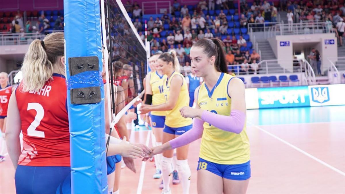 Украина - Норвегия - 3:0 / cev.lu