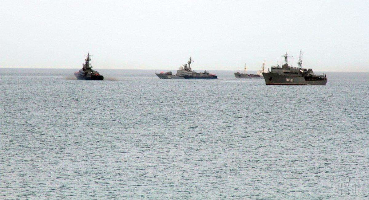 Чорноморський флот Росії закривав для судноплавства район у Чорному морі / фото УНІАН