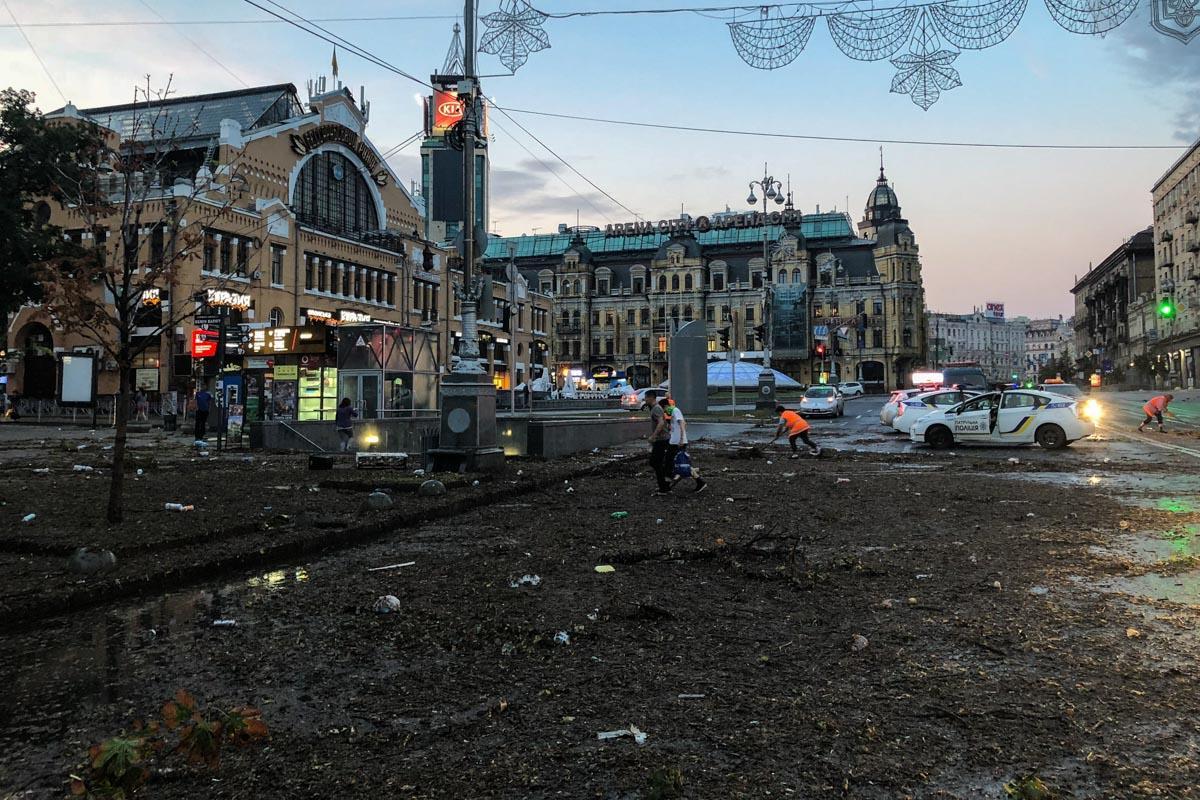 Хрещатик постраждав від розгулу стихії / kiev.informator.ua
