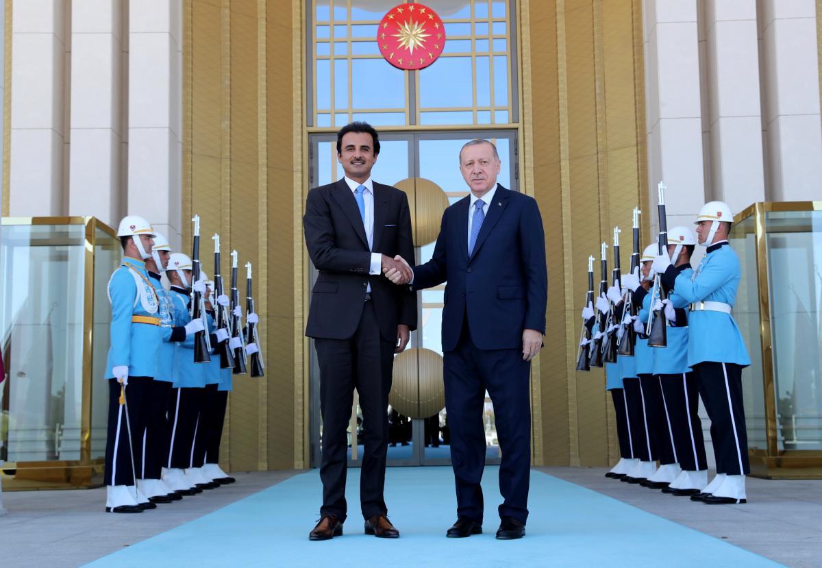Реджеп Таїп Ердоган і шейх Тамім бін Хамад аль-Тані / REUTERS