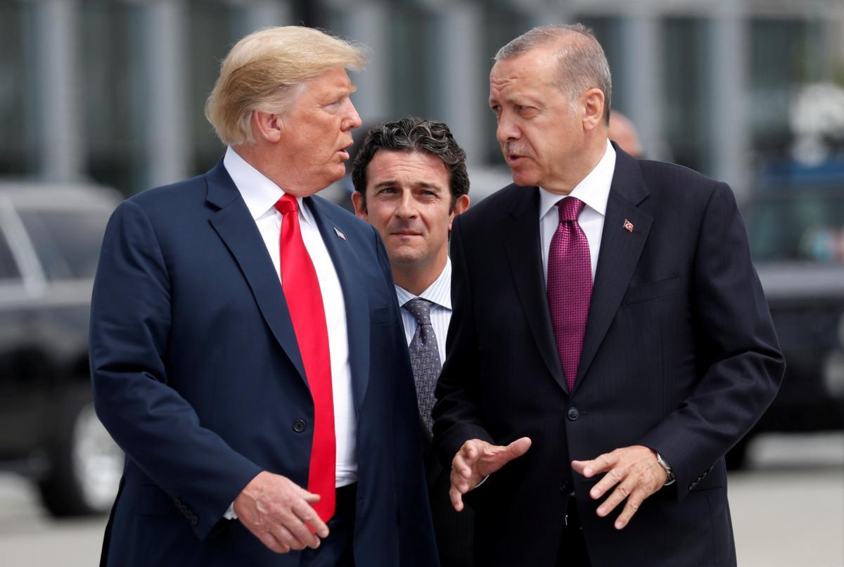 Дональд Трамп и Реджеп Тайип Эрдоган / REUTERS