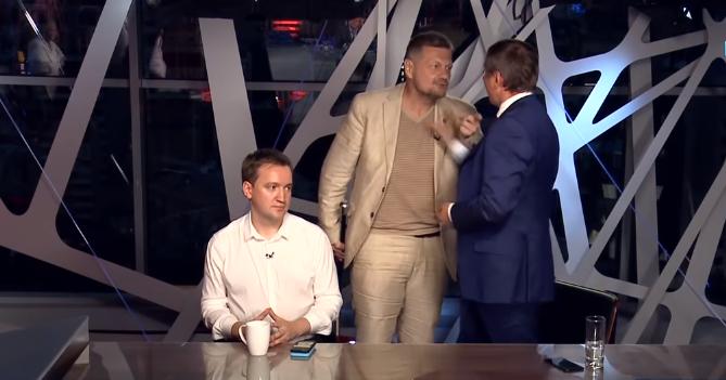 Мосійчук і Шахов почубилися прямо в студі телеканалу / скріншот