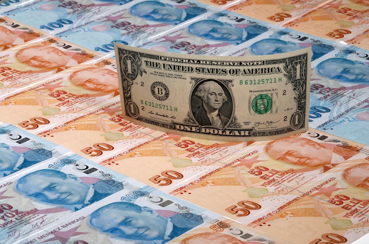 Турецкая лира рекордно упала к доллару \ фото REUTERS