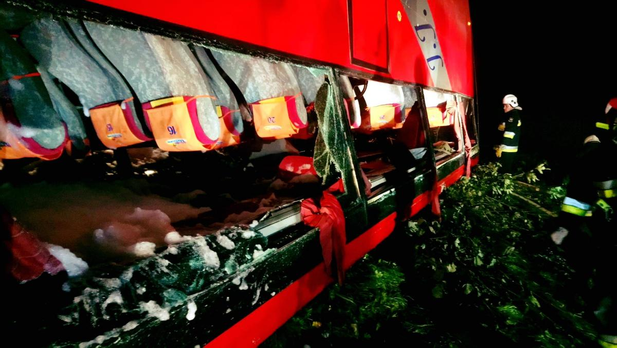 Автобус с украинскими туристами попал в смертельное ДТП в Польше / Pogotowie Ratunkowe w Przemyślu